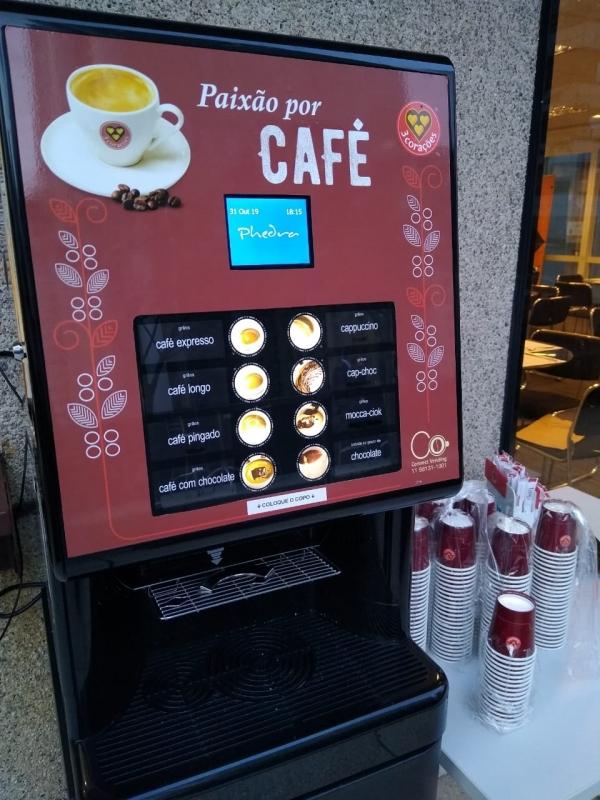 Locação Máquina de Café para Escritório Valor Parque Anhembi - Locação Máquina de Café para Empresas