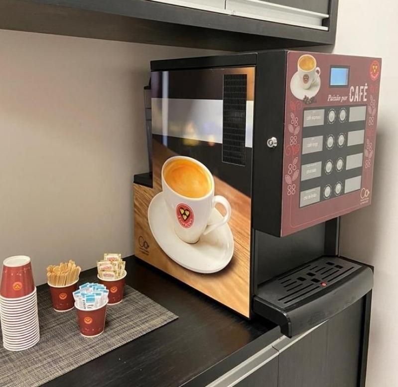 Máquina de Café Três Corações para Empresas Locação Instituto da Previdência - Máquina de Café Três Corações Profissional