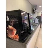 distribuidor de máquina de café expresso empresa Parque Novo Mundo