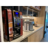 máquina de café expresso com moeda Jaguariúna