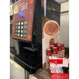 máquina de café expresso profissional com moeda valor Chácaras São José