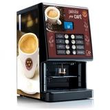 máquina de café expresso profissional com moeda Parque Anhembi