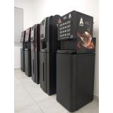 máquina de café expresso profissional com moeda