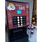 máquina de café profissional conveniência