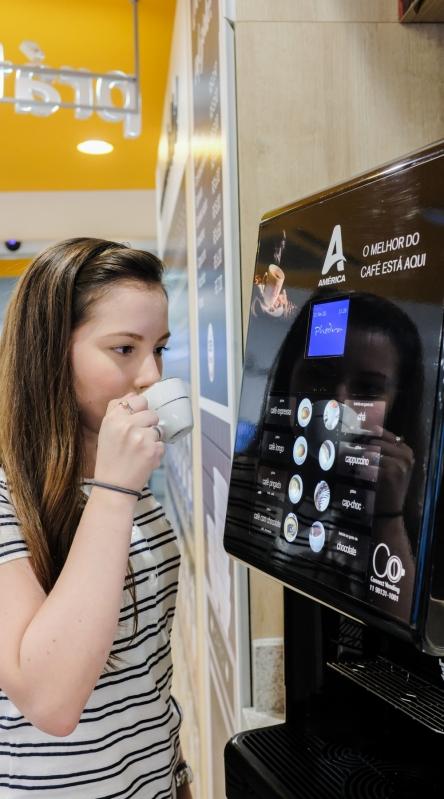 Vending Machine de Bebida Quente Água Rasa - Vending Machine para Escritório